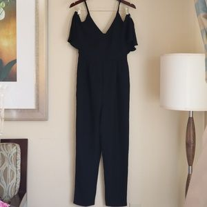 TOPSHOP Strappy Black Catty Jumpsuit